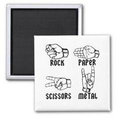 metal de papel de las tijeras de la roca imanes