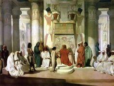 "Jean Adrien Guignet - Joseph Explaining Pharaoh's Dreams. ""Pharaoh said to Joseph, 'I had a dream, and no one can interpret it. But I have heard it said of you that when you hear a dream you can interpret it.'"" Genesis 41:15"