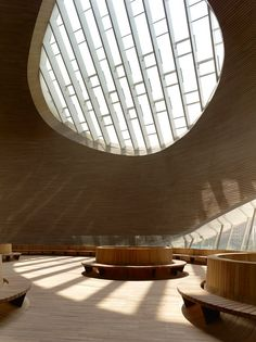 Stunning Interior - Ordos Art & City Museum - MAD Architects