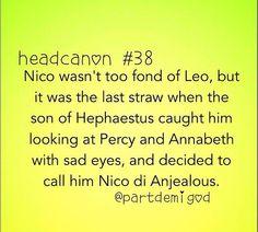 Percyjackson head canon Nico Di Angelo