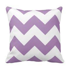 Lavender & White Chevron throw #Pillow #Homedecor #tosspillow