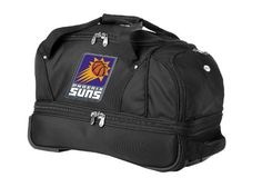 NBA Phoenix Suns Denco 22Inch Drop Bottom Rolling Duffel Luggage Black >>> You can find more details by visiting the image link.