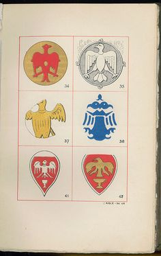 https://flic.kr/p/d8pC9U | Islamic Coats of Arms From a Plate in Yacoub Artin Pasha's Book on Middle Eastern Heraldry, c1901. | www.egyptianroyalty.net