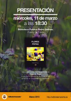 """""""Flores Fritas"""", de Yolanda Royo, en la Biblioteca Pedro Salinas"""