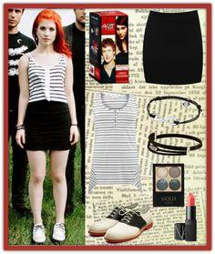 """Hayley Williams Style"" by xxxblackrainbowxxx ❤ liked on Polyvore"