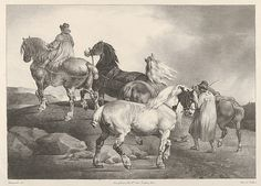 """Théodore Gericault (French, 1791–1824). Horses Driven to a Fair, 1822. The Metropolitan Museum of Art, New York. Rogers Fund, 1920 (20.17.11) 