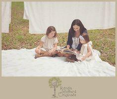 Ronda Wollard Originals Mom & Me Fields of Laundry Themed Session