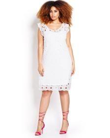 Michel Studio Lace A Line Dress