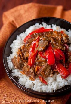 Spicy Beef & Bell Pepper - Tender Beef with a perfect kick of spice and Sweet Peppers  make an awesome combo!  - LetTheBakingBeginBlog.com   @Letthebakingbgn