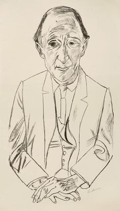 Max Beckmann, A Portrait of the composer Frederick Delius (Leipzig 1884-1950 New York), a Lithograph on handmade paper. 68 x 38 cm (sheet). Start price: 350 Euro.