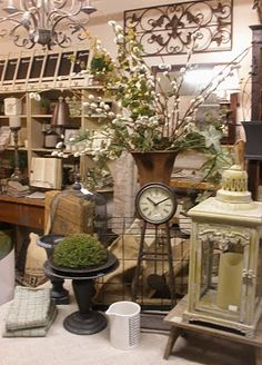 """shop display :: JOYWORKS ... LOVE the appeal of this:  neutrals + just a touch or two of """"nature!"""""""