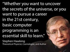 Stephen Hawking about computer programming