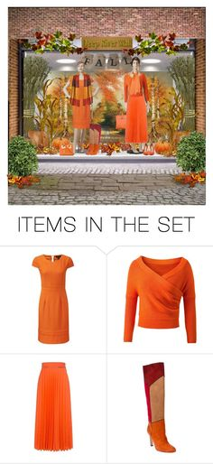 """Fall Window Display"" by cathy1965 ❤ liked on Polyvore featuring art"
