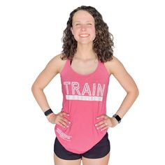 Train in Godliness Women's Tank (Pink) - S