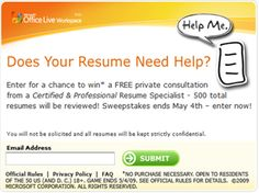 """Selected to serve as """"The Resume Specialist"""" for nationwide resume review sweepstakes sponsored by Microsoft. Review resumes from across the country."""