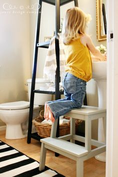 Step Stool For Kids To Reach The Sink Ikea Item Leave Unfinished Or Paint