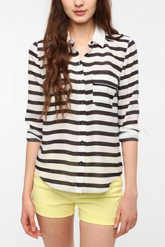 Urban Outfitters - Coincidence & Chance Silky Colorblock Blouse