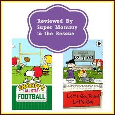 Cupcake Digital released today Snoopy's All Star Football. You can get it at a special introductory price of 99 cents. Story - good old fashion backyard football game. Girls Vs Boys. Who will win? Read my review for our thoughts! #iPad #kidsapps