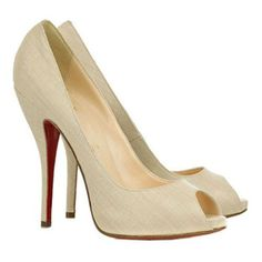 Christian Louboutin Titi 120mm Peep Toe Pumps Beige 19-2283