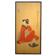 Vintage Japanese Woodblock Print, circa 1950-1980 | From a unique collection of antique and modern prints at https://www.1stdibs.com/furniture/asian-art-furniture/prints/