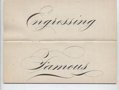 engrossers with fountain pen - Buscar con Google