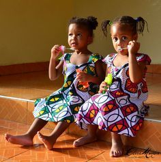 African inspired clothing  for girls of ages by KaanaKidsClothing