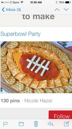 great idea on food arrangement for a tailgating party