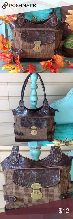 Chaps purse. Beautiful Chaps purse,just in time for fall,measures 14 in length and is 12 inches tall,in good condition . Chaps Bags