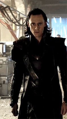 I am Loki only and I am alone — lokihiddleston: His walk and those eyes, already...