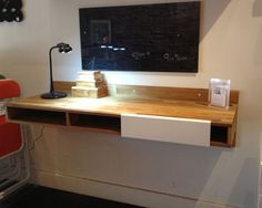 LAX Wall Mounted Desk Takes up Less Space and Could Work as a Standing Desk : TreeHugger