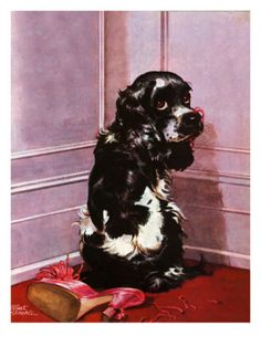 """Bad Dog, Butch,"" September 20, 1947 Giclee Print by Albert Staehle at Art.com"