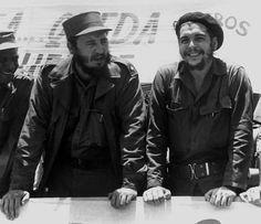 Zwei Symbolfiguren der kubanischen Politik: Fidel Castro (links) und Ernesto...