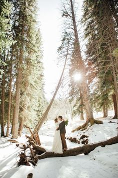 Forest Winter Wedding Styled Shoot | Kate Salley Photography on @loveincmag via @aislesociety