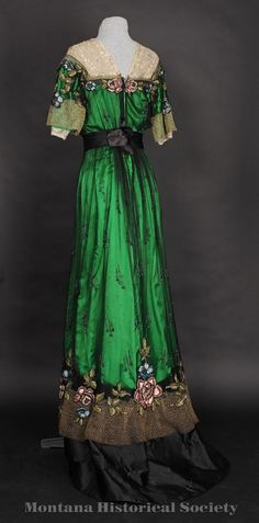 "ephemeral-elegance: "" Evening Gown, 1905-07 """