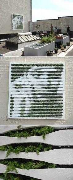 Kunst met mos, supervet dit! Iemand tips hoe ik zoiets na kan maken? #gardendesign