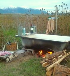 Under the Stars & Bathing. ~ Lori Parr - Under the Stars & Bathing. ~ Lori Parr I recline and sometimes think back to that girl in the desert who had an outdoor bathtub.