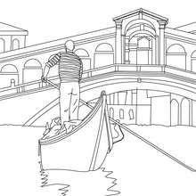 The Infamous Venecian Gondola In Venice Coloring Pages Summer Coloring Pages, Cool Coloring Pages, Adult Coloring Pages, Coloring Books, Art Village, Cool Art Drawings, Disney Drawings, Garden Mural, Minimalist Drawing
