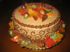 Thanksgiving cake - Beautiful, and classy