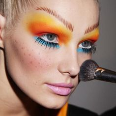 Never enough color! Try Graftobian FantasEyes palette for this colorful look. #crcmakeup