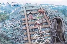 Camino hacia lo desconocido... #FanArtGhibli 'El viaje de Chihiro'