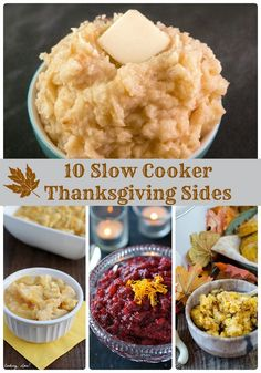 10 Slow Cooker Thanksgiving Side Dishes via thefrugalfoodiemama.com