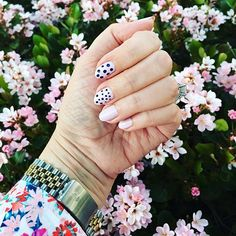 Pink and polka dots, what's not to love? #oliveyourmani
