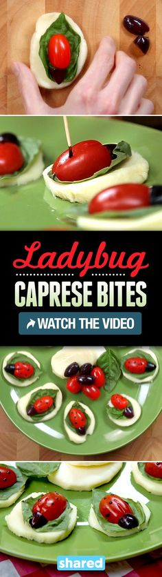 Ladybug Caprese Bites