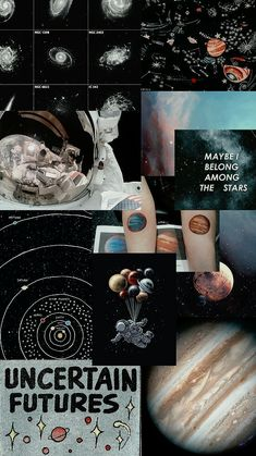 Aesthetic Wallpaper Space Collage Ideas For 2019 Planets Wallpaper, Wallpaper Space, Dark Wallpaper, Tumblr Wallpaper, Galaxy Wallpaper, Lock Screen Wallpaper, Wallpaper Backgrounds, Black Aesthetic Wallpaper, Aesthetic Iphone Wallpaper