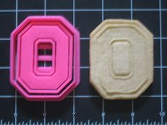 Ohio State Cookie Cutter Stamp Set Pink BPA FREE | Unique Cookie Cutters