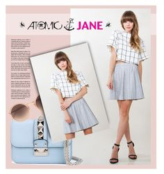 """Atomic Jane"" by atomic-jane ❤ liked on Polyvore featuring Valentino, Linda Farrow, atomicjane and atomicjaneclothing"