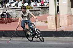 Bike Polo-- this seems wrought with difficulties for kids but a very cool idea nonetheless.