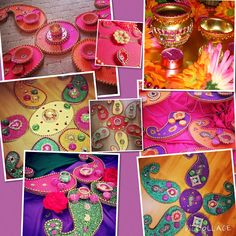 hand crafted Mehndi plates, see my Facebook page www.facebook.com/mehnditraysforfun