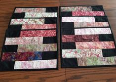 Modern Patchwork place mats, set of six, cotton fabric table mats Everyday Table Decor, Quilts Online, Place Mats Quilted, Patchwork Patterns, Fabric Strips, Mug Rugs, Small Flowers, Quilting Projects, Etsy Handmade