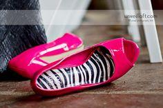 pink zebra wedding  | hot pink and zebra wedding shoes |